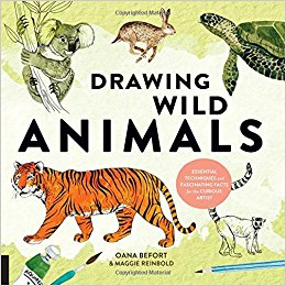 Drawing Wild Animals book cover art