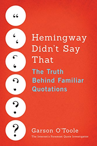Hemingway Didn't Say That book cover art